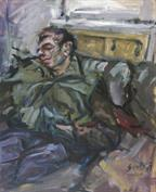 2007, alexander taking a nap, 80x70cm