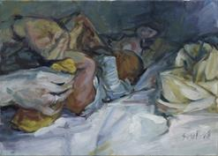 2008, cleaning, 50x70cm