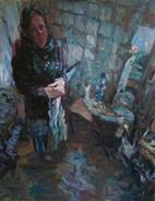 2011-06-19, artist cleaning her hands, 130x90cm, deleted