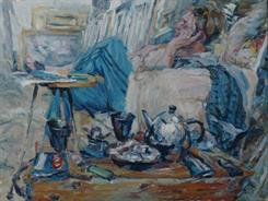 2011-07-13, tea for two, 90x120cm