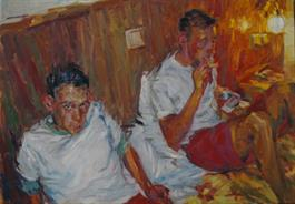 2011-09-01, an evening in a hotel, 70x100cm