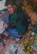 2011-10-12, selfportrait as a drunk, 90x60cm