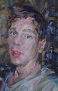 2012-08-13, portrait of Andrew, 50x30cm