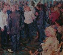 2012-12-18, what a party we had, 140x160cm