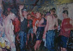 2013-01-29, progressive party, 140x200cm