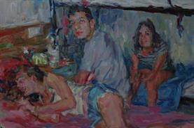 2013-06-19, best friends, back in the dorm; 90x120cm