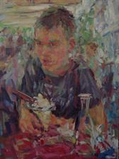 2013-07-16, Simon's having an icecream, 80x60cm