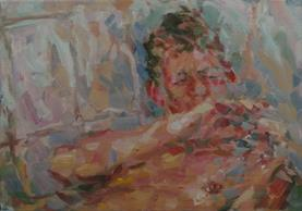 2013-10-30, showered, 46x66cm