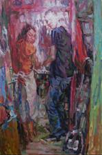 2013-11-12, spotlight on Simon, 210x140cm