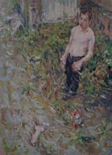 2013-12-24, mister Ivanov and the squirrel, 190x140cm