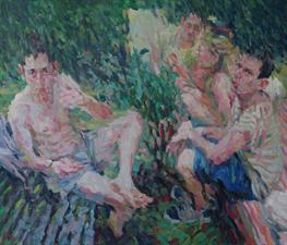 2014-02-21, Competition in a Garden, 120x140cm