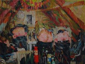 2014-03-02, Party in the attic, 120x160cm