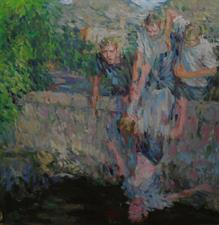 2014-03-08, into the Stream, 215x210cm
