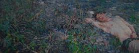 2014-03-17, (the return of) Tumblr.boy on a Vegetable Patch, 110x280cm