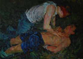 2014-04-10, captured lovers, 100x140cm