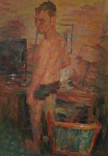 2014-08-12, Night at a Hotel, 130x90cm